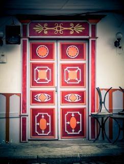 Puerta jardin Antioquia vintage deur
