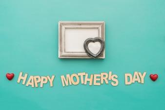 """""""Dag van de gelukkige moeder"""" belettering met frame"""