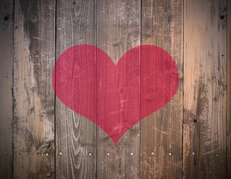 Retro plank valentijn decor desk