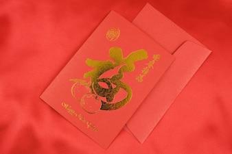 Rode kaarten om het Chinese Nieuwjaar te vieren