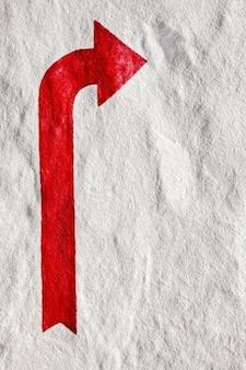 Rode pijl steen textuur hdr