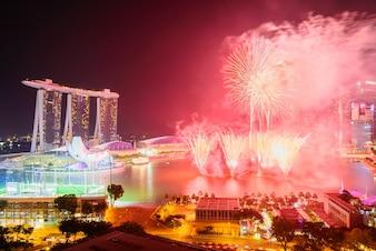 Singapore zakelijke jachthavenbaai district