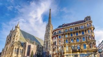 Sint-Stephen-kathedraal op stephansplatz in Wenen