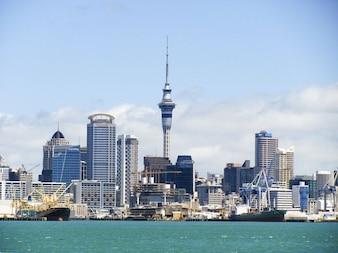 Skyline kiwi nieuwe toren auckland zeeland hemel