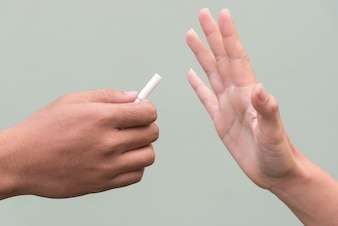 Stop met roken sigaret