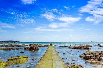 Toerisme rode vakantie kruis golf zeewier