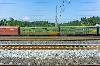 Transport rail staal roestig land heet