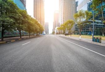 Transport wolkenkrabber snelweg bouwstaal
