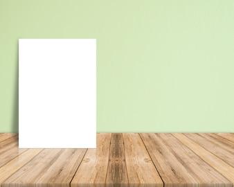 Tropisch mock blad houten achtergrond