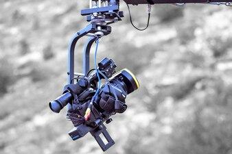 Tv-camera opname op een kraan