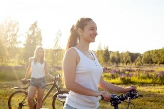 Twee meisjes in een gezonde reis