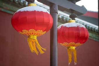 Typische chinese lampen