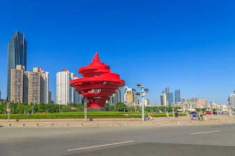 Vakantie china architectuur cityscape zee oost
