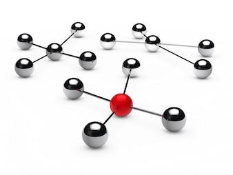 Verchroomde bollen groepen