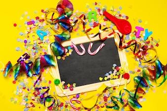 Verjaardag feest decoratie frame carnaval