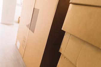 Verplaatsen van pakketten in de kamer