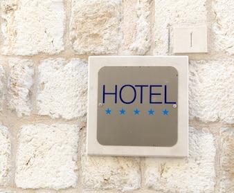 Vijf sterren hotel teken