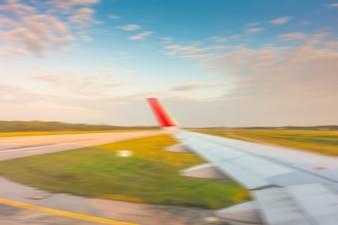 Vlucht landing luchthaven terug te uiten