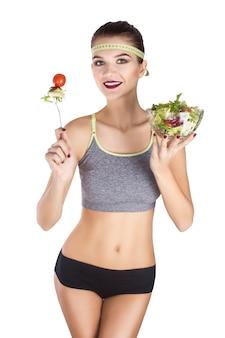 Voeding persoon witte groente slank