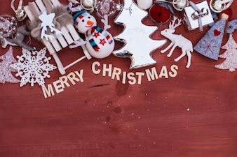 Vrolijke kerstsamenstelling met ruimte op de bodem