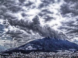 vulkanische uitbarsting