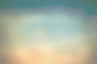 Wazige blauwe hemel en zee goed gebruiken als .blur achtergrond van oceaan concept.blurry pastel gekleurd van zonneschijn. Stof en Kras