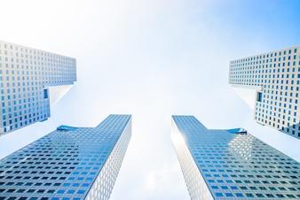Weergave lichte architectuur Singapore reflectie