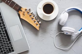 Werkplaats van muzikant