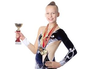Winnaar gymnast meisje