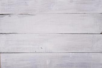 Witte houten planken