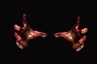 Zombie hand. Halloween thema concept.