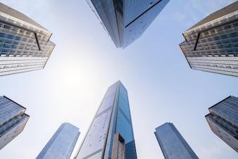 Zon york manhattan financiële ruimte