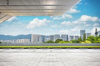 Zonsopgang shanghai plaats reis modern