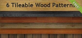 6 Gratis Betegelbare Wood Patterns