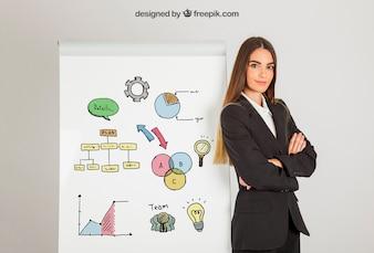 Bedrijfs vrouw en raad
