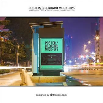 Billboard mockup voor bushalte