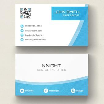 Blauw Corporate Visitekaartje