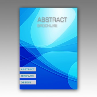 Blauwe abstracte brochure design