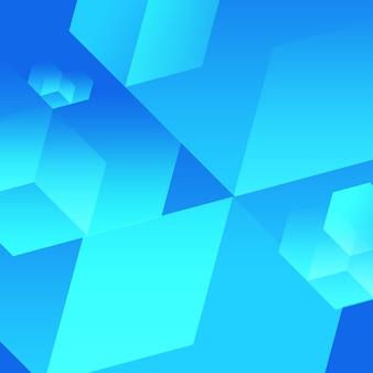 Blauwe kubus achtergrond