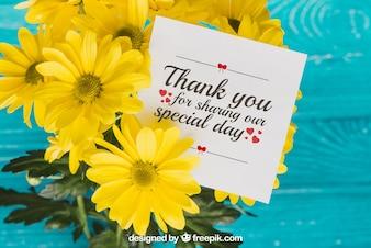 Bloemen bedankt kaartconcept