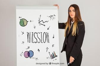 Business concepto met paneel