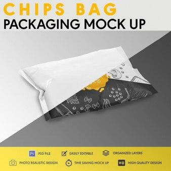 Chips zak verpakking mock up