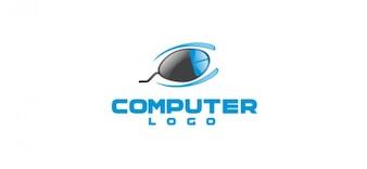 Computer bedrijfslogo vector sjabloon