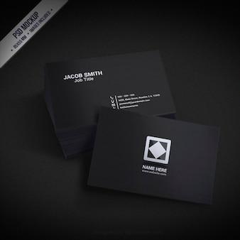 Donkere busines kaart mockup
