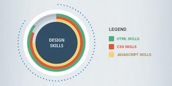 Eenvoudige infographics psd