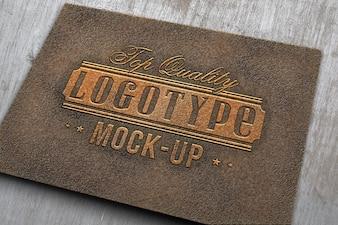 Elegant logotype mock up