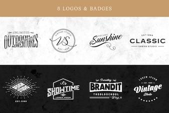 Elegante logo collectie
