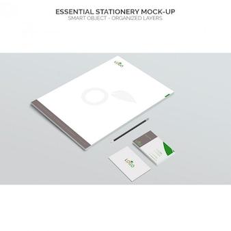 Essentiële briefpapier mock up