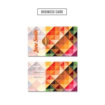 Gekleurde veelhoekige visitekaartje