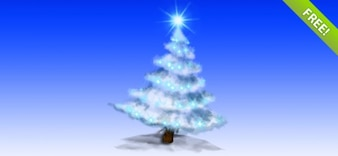 Gelaagde PSD-Christmas Tree